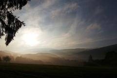 Sonnenaufgang mit Nebel 1